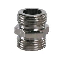 Koppeling 5/8  binnen diameter 7 mm  messing vernikkeld