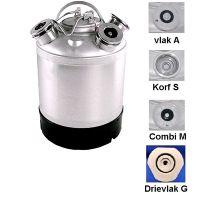 Micromatic reiniging tank rvs met 5 aansluitingen naar keuze