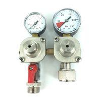 Tapclean CO2 Mini reduceer meter lage druk 0-1.5 bar, 1 uitgang 5/8