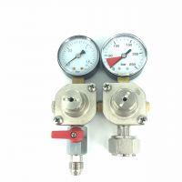 Tapclean CO2 Mini reduceer meter lage druk 0-1,5 bar, 1 uitgang 3/8 flare