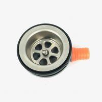 Afvoer plug 50 mm plastic haakse afvoer voor slang 3/4 geschikt voor standbuis 50 mm