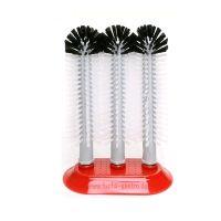 Glazen spoelborstel met zuigvoet 25 x 25 x 25 cm top kwaliteit