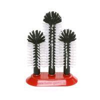 Glazen spoelborstel met zuigvoet 18 x 25 x 18 cm top kwaliteit